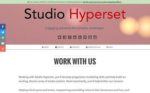 Screenshot of Jobs Page studiohyperset.com - Content Marketing and Media Services | Studio Hyperset Careers - captured Dec. 18, 2016