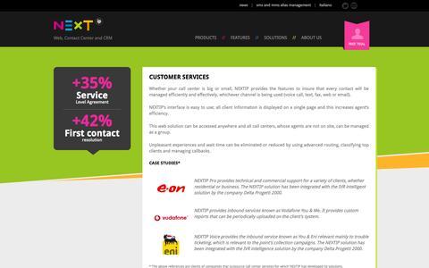 Screenshot of Support Page nextip.com - Management client service for Call Center - NextIP - captured Oct. 7, 2014
