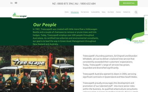 Screenshot of Team Page treescape.co.nz - Our People - Treescape Limited - captured Nov. 18, 2018