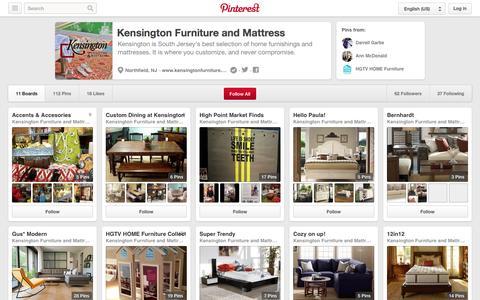 Screenshot of Pinterest Page pinterest.com - Kensington Furniture and Mattress on Pinterest - captured Oct. 23, 2014