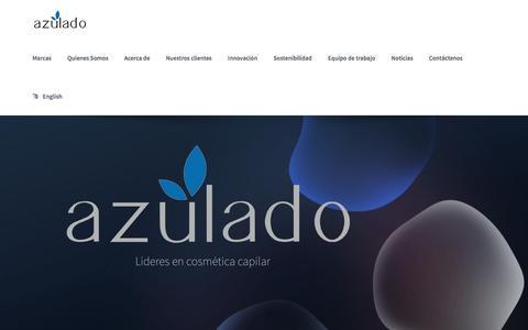 Screenshot of Home Page azulado.co - Grupo Azulado cosméticos - captured Nov. 16, 2016