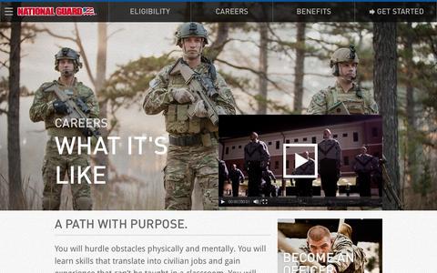 Screenshot of Jobs Page nationalguard.com - Careers | National Guard - captured Sept. 25, 2014