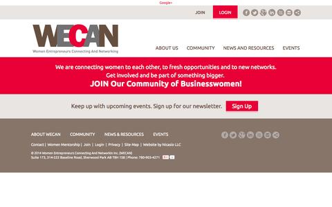 Screenshot of Privacy Page wecancanada.ca - Women Entrepreneurs Connecting And Networking (WECAN) - Privacy Policy - captured Oct. 26, 2014