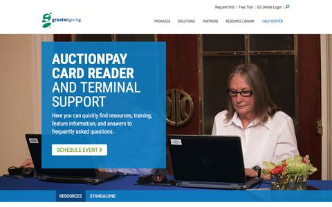 Auctionpay - Support Center | Greater Giving - Greater Giving