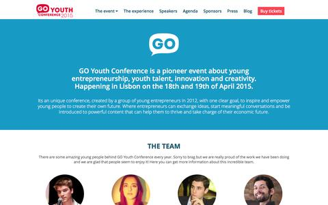 Screenshot of About Page goyouthconf.com - About | GoYouth Conference - captured Jan. 24, 2016