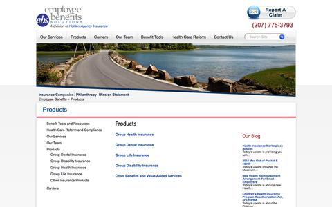 Screenshot of Products Page holdenagency.com - Products | Holden Agency Insurance - captured Aug. 3, 2017