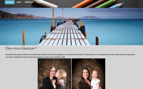 Screenshot of Home Page zonephotographe.ca - Photographe Deux-Montagnes - Rive-Nord - Laurentides et Laval - zonephotographe - captured Sept. 30, 2014