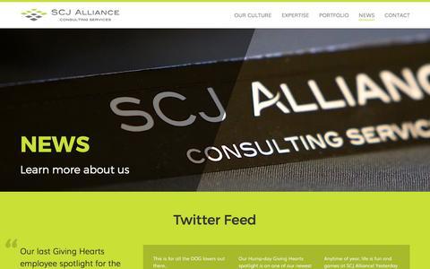 Screenshot of Press Page scjalliance.com - News | SCJ Alliance - captured Dec. 19, 2015