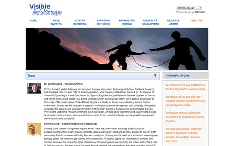 Screenshot of About Page visiblearbitrage.com - ABOUT US | Visbile Arbitrage - captured Oct. 26, 2014