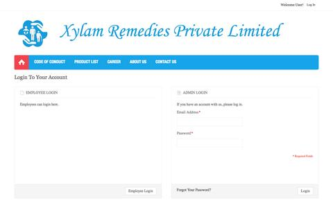 Screenshot of Login Page xylam.in - Login - captured Oct. 27, 2014