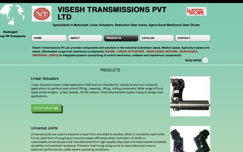 Screenshot of Products Page viseshtransmissions.com - viseshtransmissions | PRODUCTS - captured Dec. 3, 2016