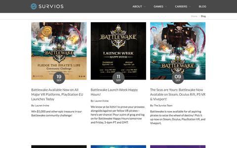 Screenshot of Blog survios.com - Blog - Survios - captured Dec. 8, 2019