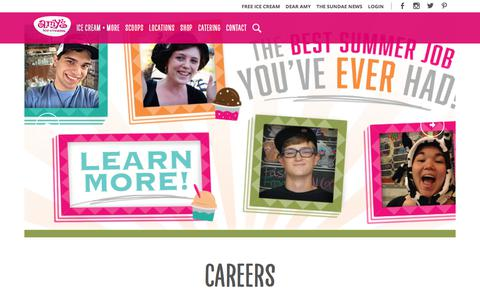 Screenshot of Jobs Page amysicecreams.com - Careers | Amys Ice Cream - captured July 30, 2018