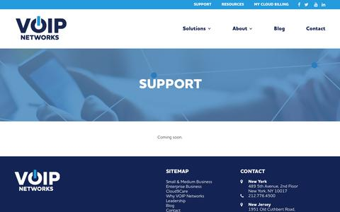 Screenshot of Support Page voipnetworks.com - VOIP Support | VOIP Systems - captured Sept. 20, 2018