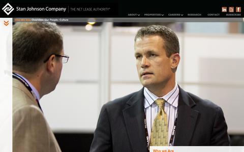Screenshot of About Page stanjohnsonco.com - About Us | Stan Johnson Company | The Net Lease Authority - captured Oct. 31, 2014