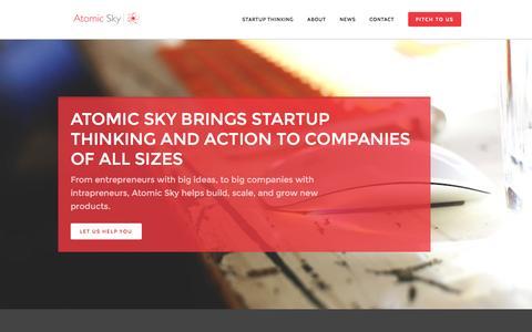 Screenshot of Home Page atomicsky.com.au - Atomic Sky - captured Dec. 27, 2015