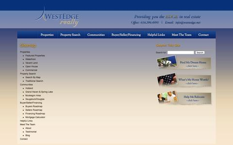 Screenshot of Site Map Page westedge.net - Sitemap - West Edge Realty - captured Oct. 26, 2014