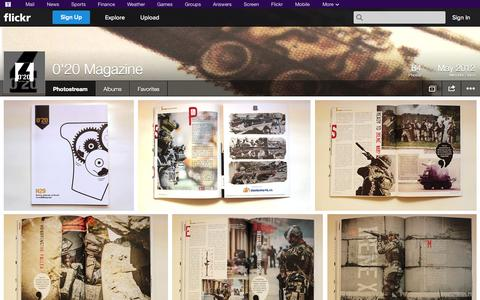 Screenshot of Flickr Page flickr.com - Flickr: 0'20 Magazine's Photostream - captured Oct. 26, 2014