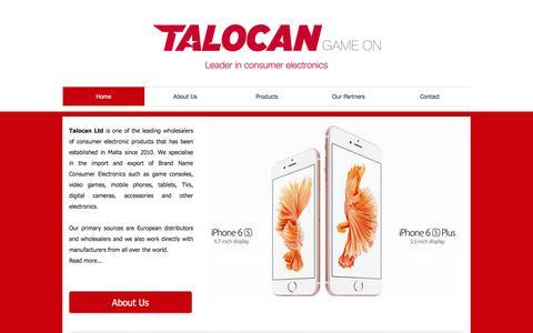 Screenshot of Home Page talocanltd.com - Talocan Ltd | Consumer electronics, game consoles, mobile phones - captured Feb. 13, 2016