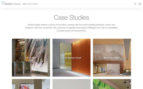 Screenshot of Case Studies Page skydesign.com - Skyline Design | Case Studies - captured Nov. 30, 2016