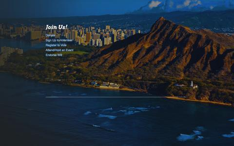 Screenshot of Signup Page esperoforcongress.com - JOIN - Espero For Congress - Candidate for Hawaii's 1st Congressional District - captured Sept. 30, 2014