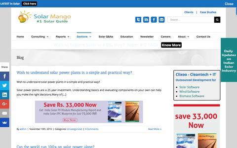 Screenshot of Blog solarmango.com - Blog - Solar Mango – #1 guide for solar - captured Dec. 18, 2016