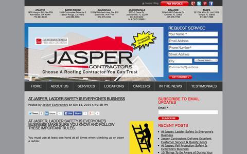 Screenshot of Blog jasperroof.com - Default HubSpot Blog - captured Nov. 3, 2014
