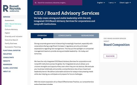 CEO Advisory Services | CEO Succession Planning | Russell Reynolds Associates