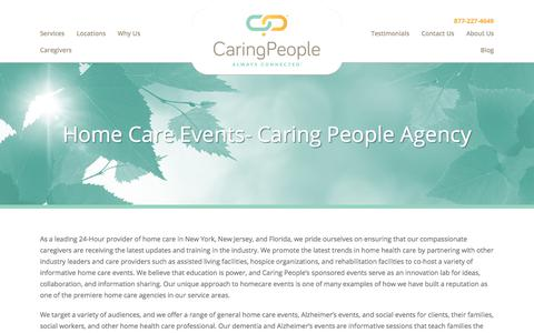 Screenshot of Case Studies Page caringpeopleinc.com - home care events- Caring People Agency - captured July 15, 2017
