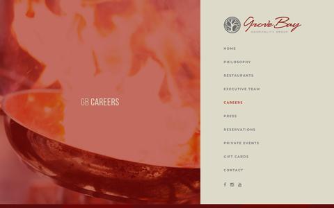 Screenshot of Jobs Page grovebaygroup.com - Careers - captured Sept. 21, 2019