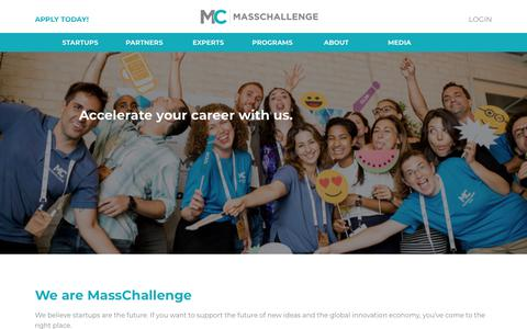 Screenshot of Jobs Page masschallenge.org - Working at MassChallenge | MassChallenge - captured Jan. 20, 2019