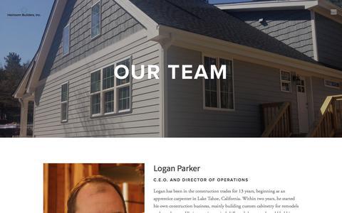 Screenshot of Team Page heirloombuilders.com - Our Team — Heirloom Builders, Inc. - captured July 18, 2018