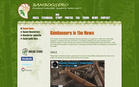 Screenshot of Press Page bamboosero.com - Bamboosero in the News | Bamboosero - captured Sept. 30, 2014