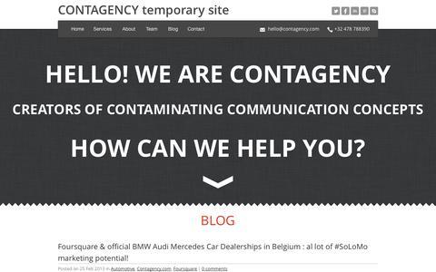 Screenshot of Blog contagency.com - Blog | CONTAGENCY - captured Oct. 1, 2014