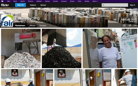 Screenshot of Flickr Page flickr.com - Flickr: fair.recycling's Photostream - captured Oct. 23, 2014