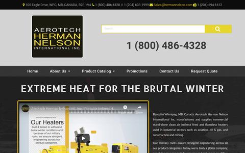 Screenshot of Home Page hermannelson.com - Home - Aerotech Herman Nelson - captured Nov. 12, 2018