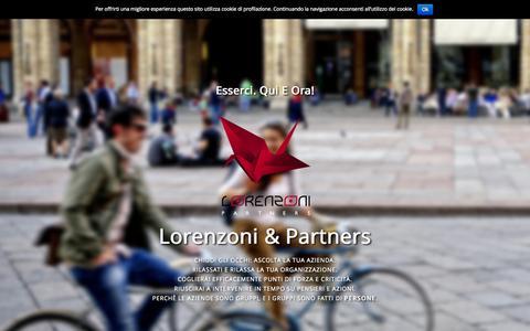 Screenshot of Home Page Press Page lorenzonipartners.com - Lorenzoni & Partners - captured July 3, 2015