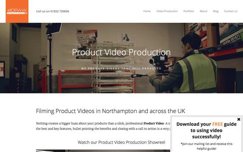Screenshot of Products Page eldraw.co.uk - Product Videos | Product Video Production Northampton | elDRAW - captured Sept. 20, 2017
