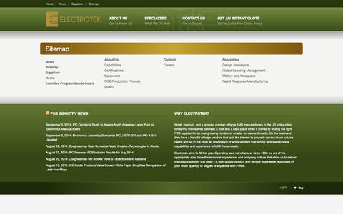 Screenshot of Site Map Page boards4u.com - Sitemap «  Electrotek - captured Oct. 2, 2014