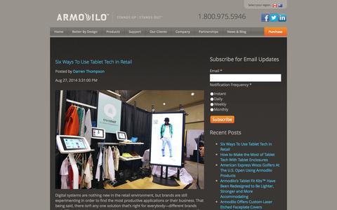 Screenshot of Blog armodilo.com - Armodilo Display Solutions / TabGab™ - captured Sept. 30, 2014