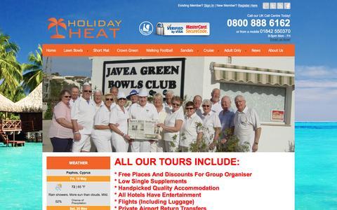 Screenshot of Testimonials Page holidayheat.co.uk - Lawn Bowls Testimonials - Holiday Heat Ltd - captured May 20, 2017