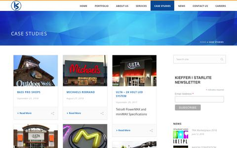 Screenshot of Case Studies Page kieffersigns.com - Case Studies   Kieffer & Co., Inc. - captured Sept. 24, 2018