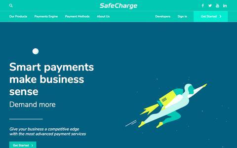 Screenshot of Home Page safecharge.com - SafeCharge Payment Solutions - captured Sept. 13, 2018