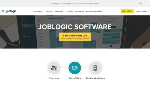 Screenshot of Products Page joblogic.com - Products - Service Management Software | Joblogic - captured July 16, 2019