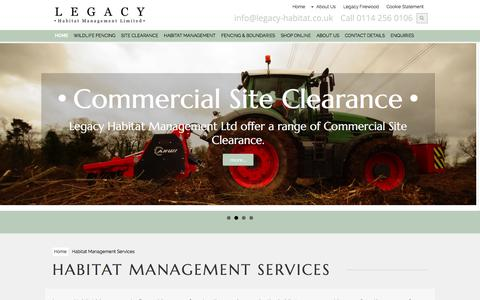 Screenshot of Services Page legacy-habitat.co.uk - Habitat Management Services | UK Habitat Management Services - captured July 29, 2017