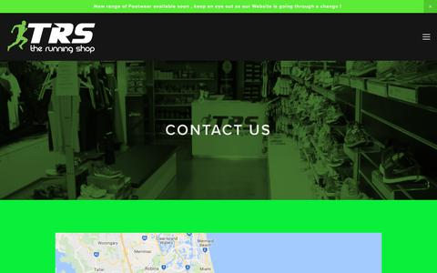 Screenshot of Contact Page therunningshop.com.au - Contact — TRS - The Running Shop - captured June 15, 2017