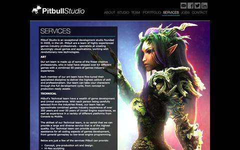 Screenshot of Services Page pitbullstudio.co.uk - Services Page - captured Oct. 2, 2014
