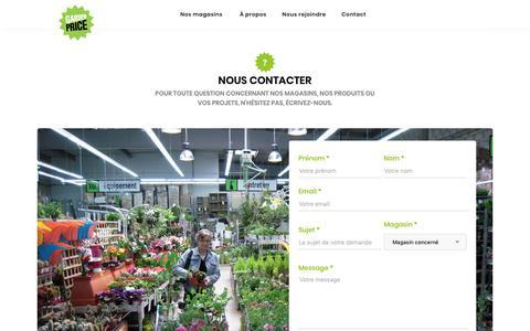 Screenshot of Contact Page gardenprice.com - Contacter Garden Price - captured Nov. 3, 2018