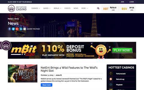Screenshot of Press Page bestbitcoincasino.com - News   Best Bitcoin Casino - captured Oct. 12, 2019