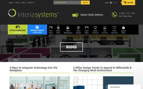 Screenshot of Blog interiasystems.com.au - Ideas & Tips Blog | Page - captured June 8, 2017